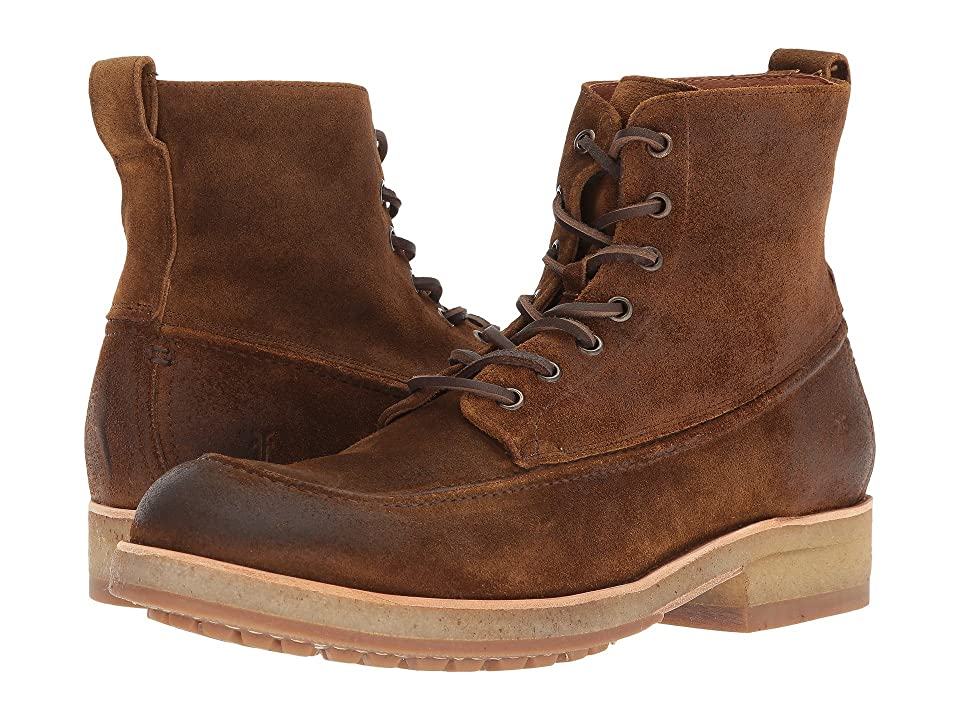 Frye Rainer Workboot (Tan Washed Waxed Suede) Men