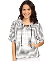 Michael Stars - Playa Stripe Lace-Up Baja Top