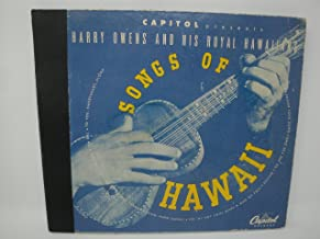 Harry Owens and His Royal Hawaiians 1945 Songs Of Hawaii 4 x 78 RPM 10
