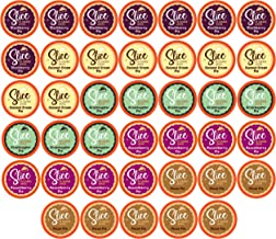 Slice Flavored Coffee, Variety Pack for Keurig K Cup Brewers, 40 Count, Pie Flavors (Blackberry, Grasshopper, Pecan, Coconut Cream, Razzleberry)