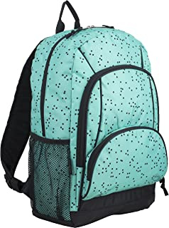 teal and black backpack