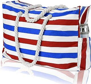 oversized beach bag with zipper