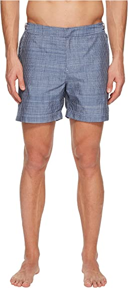 Bulldog Chambray Stitch Swim Trunk
