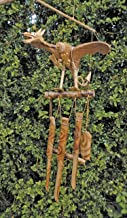 Fancysweety Alloy Wind Chime Ornaments Lucky Fortune Garden Copper Outdoor Living Yard Garden Wall Hanging Decoration Ornaments