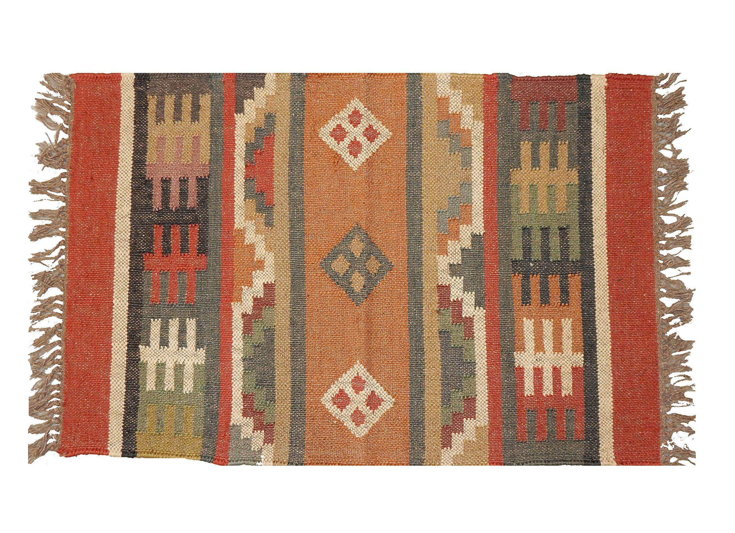 Indian Area Rug Dari Rug Handmade Carpet Runner Fringe Home Modern Rug Floor Rug