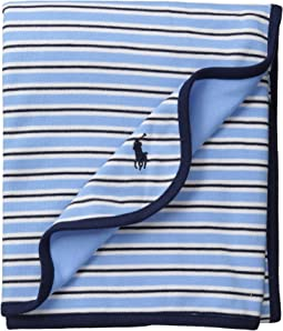 Ralph Lauren Baby YD Interlock Stripe Blanket