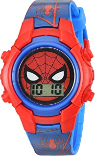 Marvel Boys' Quartz Plastic Strap, Blue, 18.15 Casual...