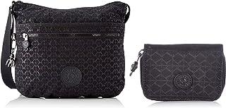 Kipling Damen Arto Crossbody Taschen, Einheitsgröße, Schwarz - Signature Emb - Größe: One Size Damen Tops Geldbörsen, One ...