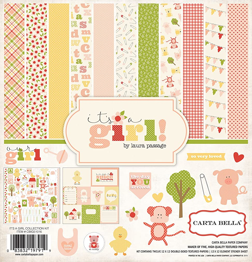 Carta Bella Paper Company CBIG51016 It's a Girl Collection Kit