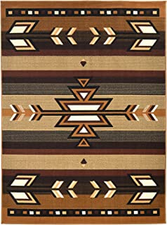 Rugs 4 Less Collection Southwest Native American Indian Area Rug Design R4L SW1 in Beige / Berber (5'x7')