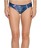 Tommy Bahama - Paisley Leaves Side-Shirred Hipster Bikini Bottom