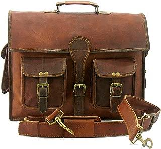 Handmade World Leather Messenger Bags for Men 16 Women Mens Laptop Best Computer Satchel Bag Fits Upto 15.6