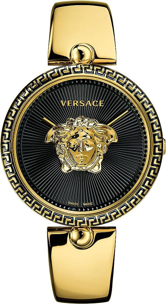 Versace,orologio per donna,in acciaio inossidabile,vetro zaffiro,e madreperla VCO100017