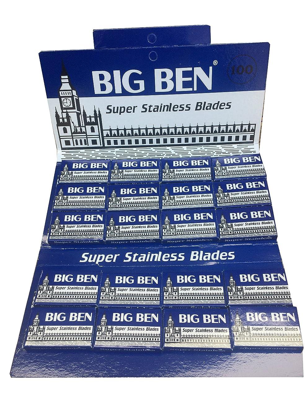 コンベンション酸ほのかBig Ben Super Stainless 両刃替刃 100枚入り(5枚入り20 個セット)【並行輸入品】