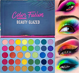 Beauty Glazed Rainbow Eyeshadow Palette - Professional 39 Color Makeup Matte Metallic Shimmer Eye Shadow Palettes - Ultra Pigmented Powder Bright Shades Cosmetics Set for Halloween