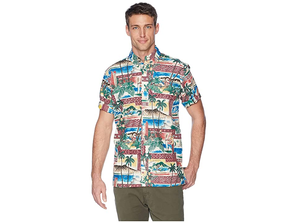 Reyn Spooner Hawaiian Christmas Classic Fit Shirt (Maroon) Men