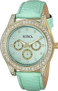 XOXO Womens Quartz Watch, Analog Display and Leather Strap XO3433