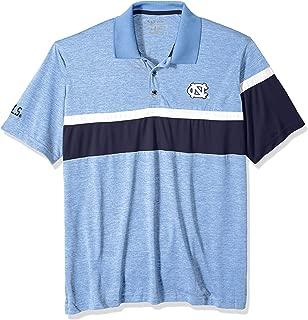 NCAA North Carolina Tar Heels Mens NCAA Men's Short Sleeve Striped Polo Collared Teechampion NCAA Men's Short Sleeve Striped Polo Collared Tee, Carolina Blue, Large