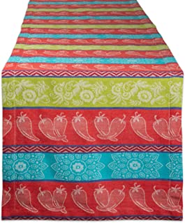 DII CAMZ11165 100% Cotton, Machine Washable, Everyday Table Runner for Dinner Parties, Events, Decor, 14x72, Chili Pepper
