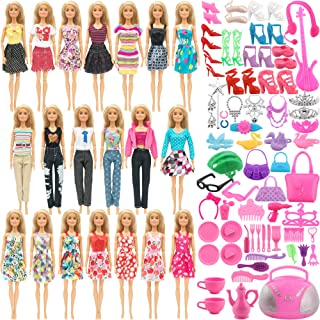 SOTOGO 110 Pieces Doll Clothes and Accessories for 11.5 Inch Girl Doll Different Occasions...