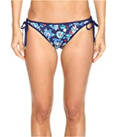 Tommy Bahama - Folk Floral Reversible Loop-Tie Hipster Bikini Bottom