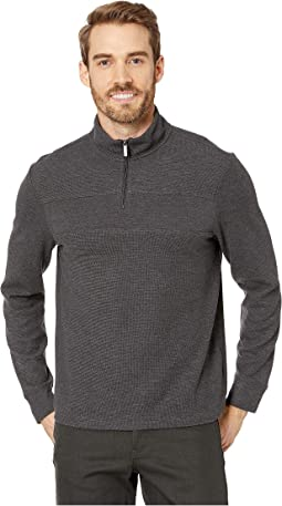 Regular Fit 1/4 Zip Jacquard Sweater