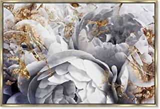 The Oliver Gal Artist Co. Her Peony Garden' Framed Fashion Wall Decor, 60 x 40, White