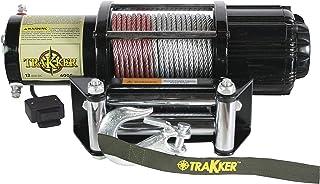 KEEPER Corporation KT4000 Trakker 1.6 Horsepower 12V DC Electric Winch - 4,000-Pound Capacity (Black)