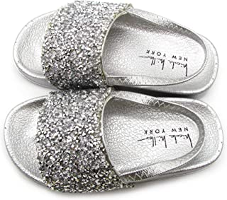Nicole Miller New York Toddler and Little Girls Jeweled Slide Sandals