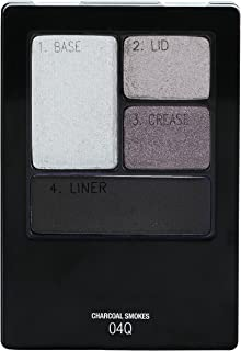 Maybelline New York Expert Wear Eyeshadow Quads, Charcoal Smokes, 0.17 oz.