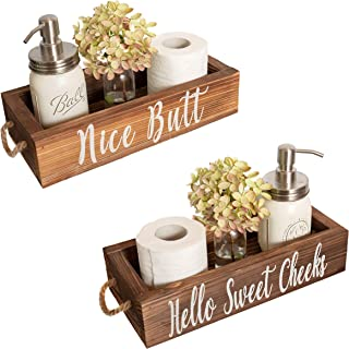 Nice Butt Bathroom Decor Box, 2 Sides – Funny Gift, Funny Toilet Paper Holder..