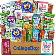 College Box Healthy Care Package (30 Count) Natural Bars Nuts Fruit Health Nutritious Snacks Variety Gift Box Pack Assortment Basket Bundle Mix Sample College Student Office Fall Final Exams Christmas