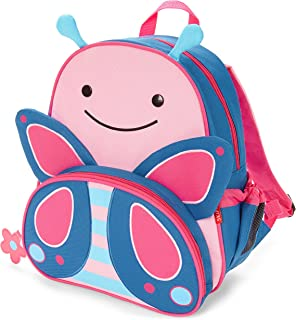 "Skip Hop Toddler Backpack, 12"" Butterfly School Bag, Multi"