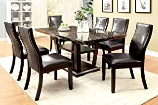 Best 7 piece faux marble dining set Reviews