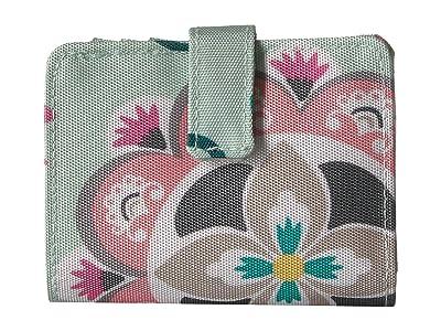 Vera Bradley Lighten Up RFID Small Wallet (Mint Flowers) Wallet Handbags