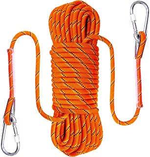 100FT or 50FT,10 mm(3/8in),Braided Static Rope for Outdoor Rock Climbing Escape Rope Ice Climbing Equipment Fire Rescue Pa...