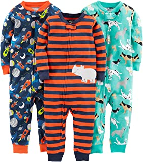 Baby and Toddler Boys' 3-Pack Snug Fit Footless Cotton...