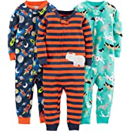 Baby and Toddler Boys' 3-Pack Snug Fit Footless Cotton Pajamas