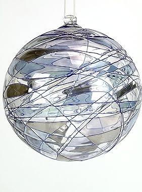fd-bolletta arredamento e illuminazione Boule en verre pour décoration de Noël, boule en verre à suspendre pour décoration. O