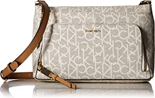 Calvin Klein Hudson Top Zip Signature Crossbody