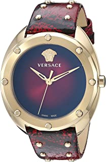 Women's SHADOV Quartz Watch with Snakeskin Strap, red, 18 (Model: VEBM00918)