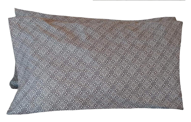 Ella Dallas Mall Max Gray White Print Pillowcases 2021 model Microfiber †Queen