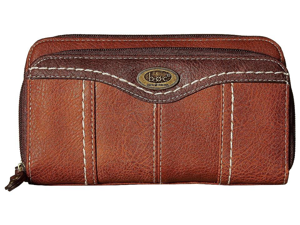b.o.c. Potomac Slim Wallet (Saddle/Chocolate) Wallet Handbags, Brown