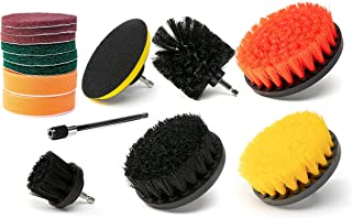 NEIKO 00322A Drill Brush Attachment Set | Cleaning Round Pad | Polishing, Buffing, Scrubbing & Scouring Pads | Power Scrub...