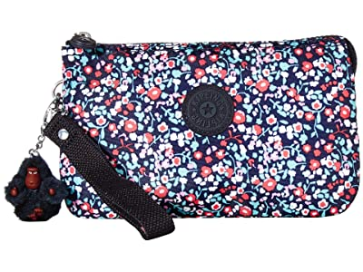 Kipling Creativity XL Printed Pouch (Glistening Poppy Blue) Clutch Handbags