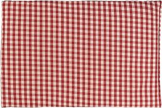 Saco térmico de semillas 30x20cm (algodón orgánico rojo y blanco) | Almohada térmica | Cojín de calor y frio | Cojín con huesos de cerezas