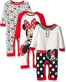 Baby Girls' 3 Pack Minnie Coveralls