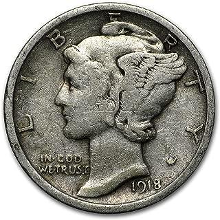 1918 dime coin