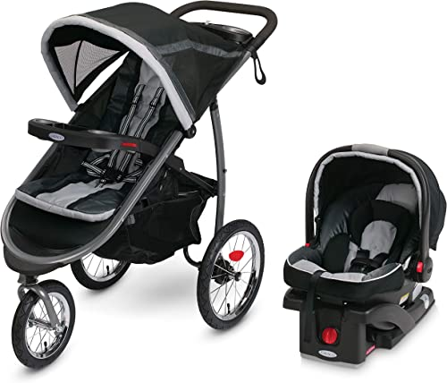 Graco FastAction Fold Jogger Travel System | Includes the FastAction Fold Jogging Stroller and SnugRide 35 Infant Car...