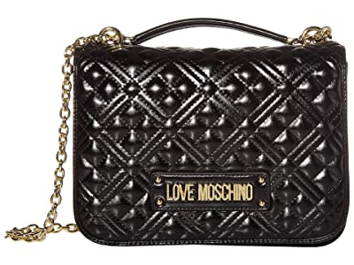 LOVE Moschino Quilted Shoulder Bag (Black) Handbags